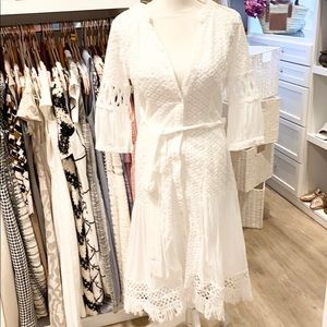 Goodnight Macaroon White Embroidered Dress…